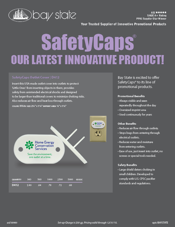 D412 - SafetyCaps Outlet Cover