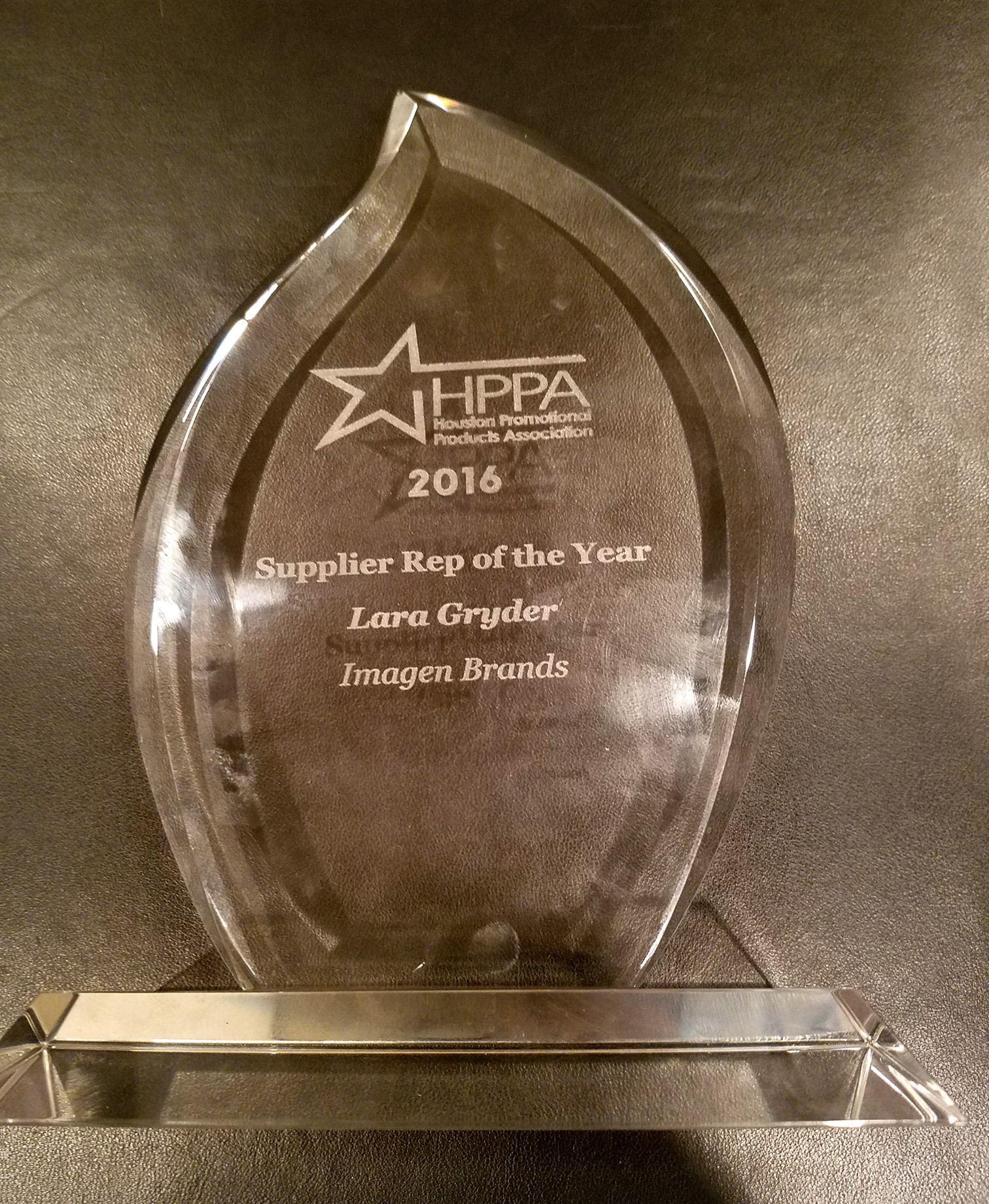 HPPA Suppler Rep of the Year