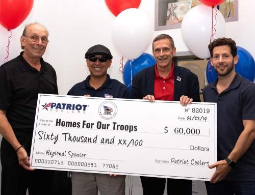 Patriot Coolers Donates $60,000 to Homes for Our Troops, Becomes Regional Partner