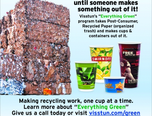VISSTUN® EXCEEDS GOAL – ALL PAPER PRODUCTS NOW BUILT WITH 35% RECYCLED PAPER